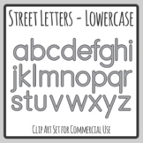 Road / Street Alphabet Letters for Transport Themes Clip Art Commercial Use