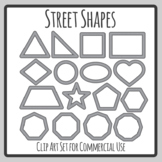 Road / Street Geometry Shapes for Transport Themes Clip Art Commercial Use