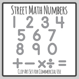 Road / Street Math Numbers for Transport Themes Clip Art Commercial Use