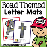 Road Themed Letter Mats - Playdough or Cars