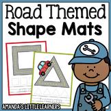 Road Themed Shape Mats - Playdough or Cars