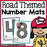 Road Themed Number Mats - Playdough or Cars