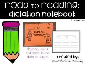 Road To Reading: Dictation Notebook