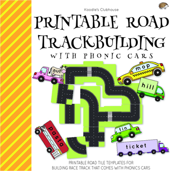 Road Track Building Tiles with CVC Cars Game