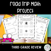 3rd Grade Math Review Project Road Trip Theme
