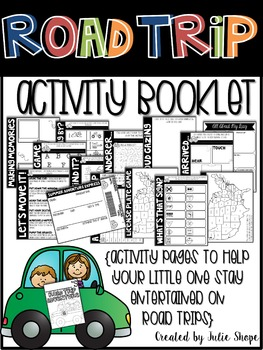 Road Trip Activity Booklet {Activities for Little Ones on Road Trips}