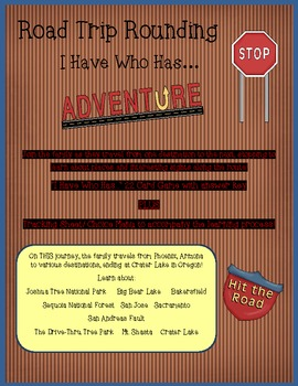 """Road Trip! An """"I Have Who Has""""  Rounding & Geography Activity!"""