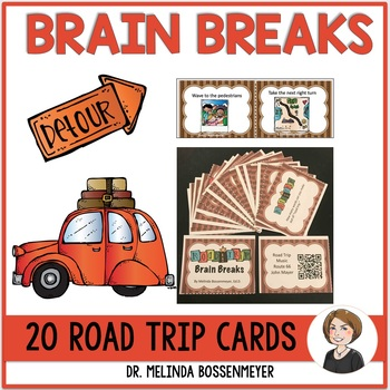 Road Trip Brain Break Cards