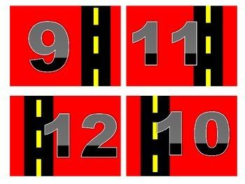 Road Trip Calendar Numbers