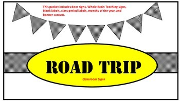 Road Trip Classroom Signs and Decor with Color