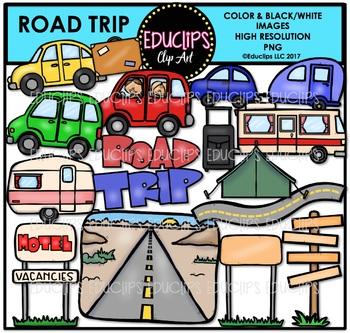 Road Trip Clip Art Bundle {Educlips Clipart}