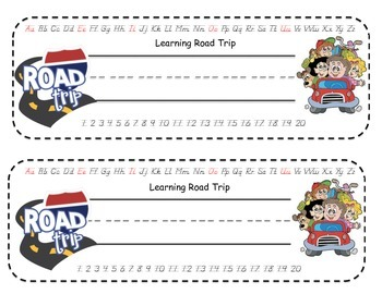 Road Trip Desk Name Tags and Name Tags