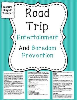 Road Trip: Entertainment and Boredom Prevention