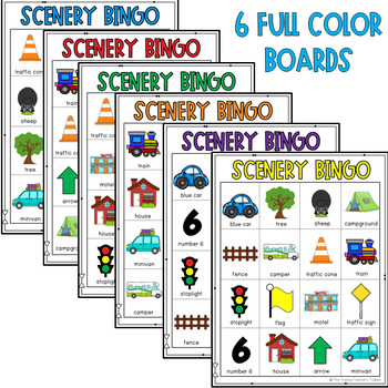 Road Trip Games Scenery Bingo