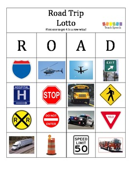 Road Trip Lotto Game