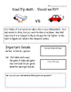 Road Trip Math - Super for a Substitute! - Common Core Fif