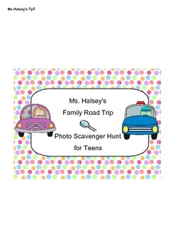 Road Trip - Photo Scavenger Hunt for Teens (Freebie)