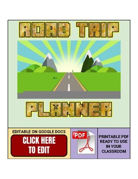 Road Trip Planner Geography Worksheet (Google Docs)