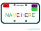 Road Trip Theme Editable License Plates for Names and Subjects