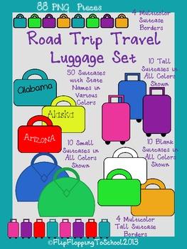 Road Trip Travel Luggage Set
