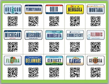 Road Trip! (US States & Capitals Review Board Game w/ QR Codes)