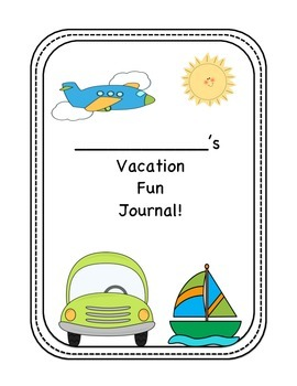 Summer Road Trip/ Vacation Journal
