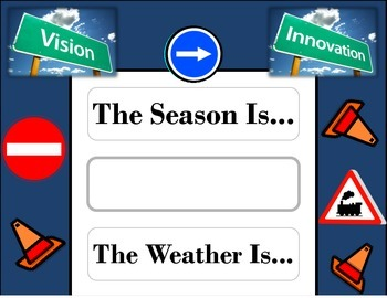 Road Trip Weather Chart! Road Trip Bulletin Board! Road Trip Travel Theme!