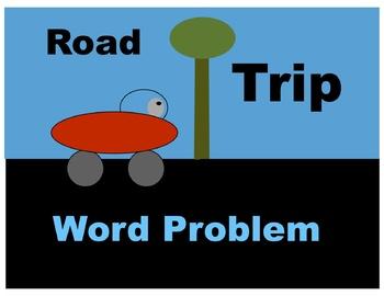 Road Trip Word Problem