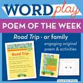 Road Trip - ar Word Family Poem of the Week - R-Controlled