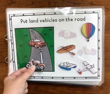 Road, Water, or Sky? An Adaptive and Interactive Book About Vehicles
