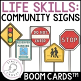 Road and Community Signs BOOM CARDS™ Life Skills