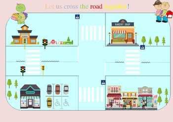 Road safety Role- Play map/ Board game
