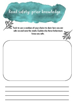 Road safety printable template