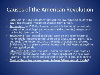 Road to American Revolution