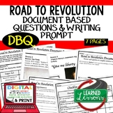 Road to American Revolution DBQ (Document Based Questions) Paper and Google