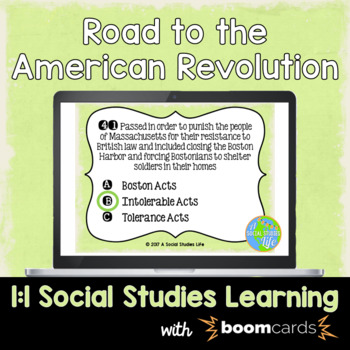 Road to American Revolution Interactive Task Cards