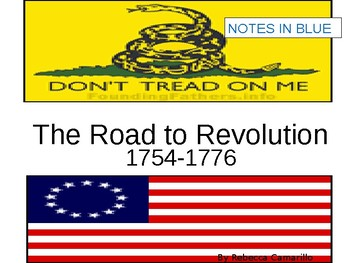 Road to American Revolution Notes