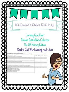 Road to Civil War Learning Goal Chart