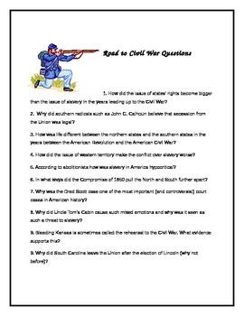 Road to Civil War Questions