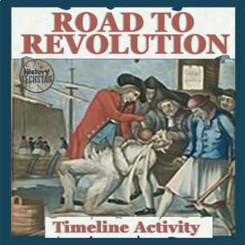 Road to Independence Timeline Activity for Interactive Notebook