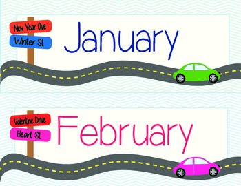 Road to Learning Calendar Set