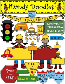Road to Reading Clip Art by Dandy Doodles