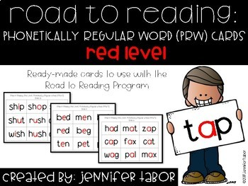 Road to Reading Word Cards: Red Level