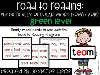 Road to Reading Word Cards: Green Level