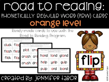 Road to Reading Word Cards: Orange Level