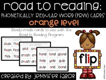 Road to Reading Word Cards: Orange Level