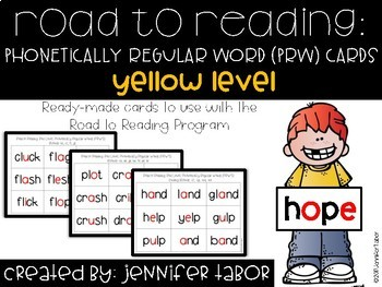 Road to Reading Word Cards: Yellow Level