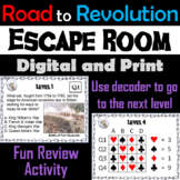 Road to Revolution Activity: Social Studies Escape Room