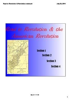 Road to Revolution & American Revolution Notes