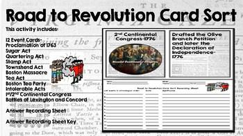 Road to Revolution Card Sort